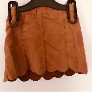 Kardashian Kids Faux Suede Skirt